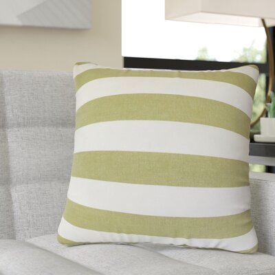 Rivenburg Striped Cotton Throw Pillow Color: Green