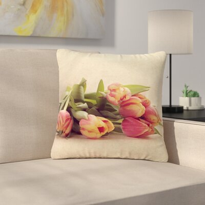 Angie Turner Delicate Spring Photography Outdoor Throw Pillow Size: 16 H x 16 W x 5 D
