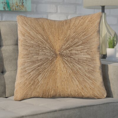 Baran 100% Cotton Throw Pillow Color: Khaki, Fill Material: Polyfill