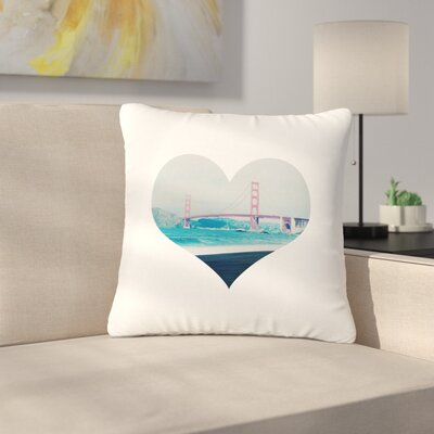 San Francisco Love Coastal Outdoor Throw Pillow Size: 18 H x 18 W x 5 D