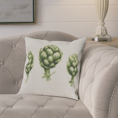 Laymon Throw Pillow Color: Ivory, Size: 18 x 18