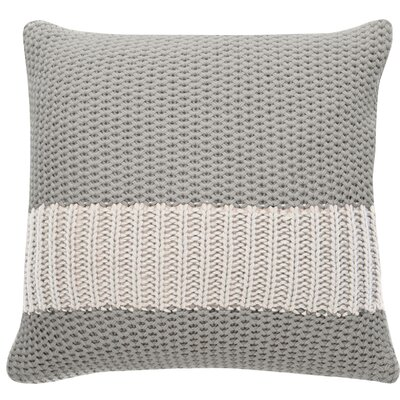 Girton Throw Pillow Color: Gray/Cream