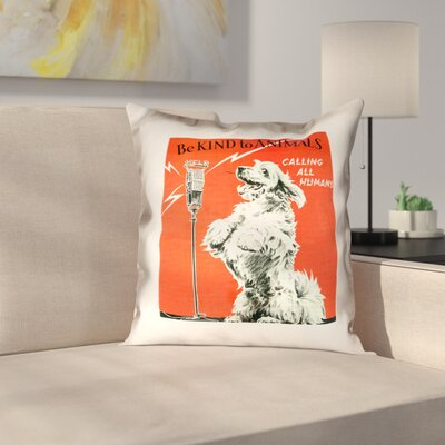 Hansard Vintage Animal Kindness Ad Throw Pillow Size: 40 x 40