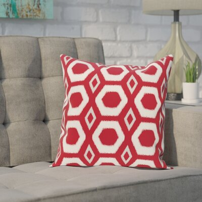 Brockley Geometric Print Throw Pillow Size: 16 H x 16 W x 1 D, Color: Formula One