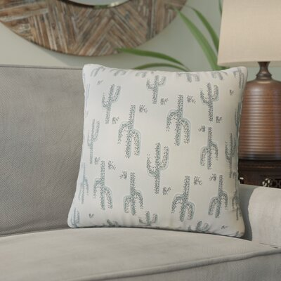 Fairhope Graphic Cotton Throw Pillow Color: Frost Green