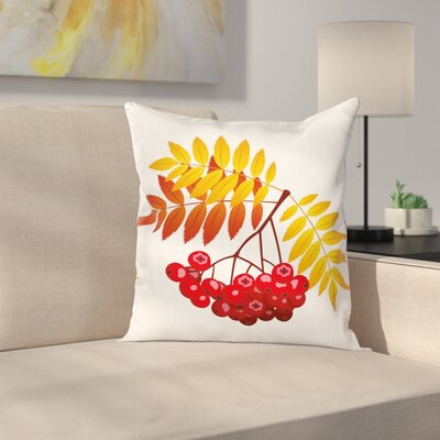 Rural Berries Pillow Cover Size: 16 x 16