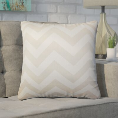 Creason Zigzag Cotton Throw Pillow Color: Tan