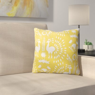 Kaivhon Outdoor Throw Pillow Size: 16 x 16, Color: Yellow