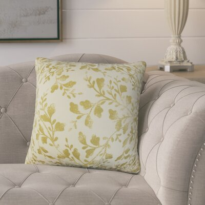 Mari�rio Foliage Cotton Throw Pillow Color: Antique Gold