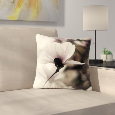 Vanilla Magnolia Floral Outdoor Throw Pillow Size: 16 H x 16 W x 5 D