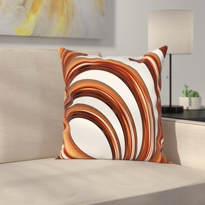 Helix Coil Spiral Square Pillow Cover Size: 18 x 18