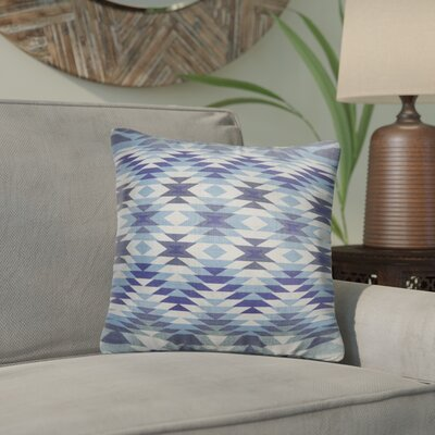 Bethesda Throw Pillow Color: Blue, Size: 18 x 18