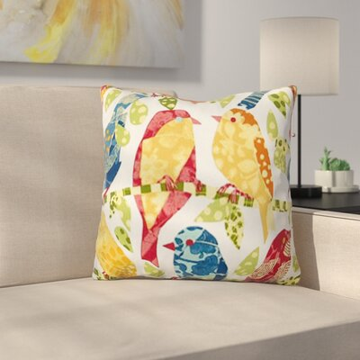 Rhymes Outdoor Throw Pillow
