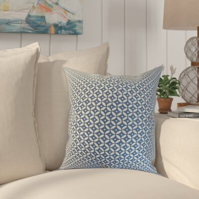 Conrad Geometric Cotton Throw Pillow Color: Indigo, Size: 24 x 24