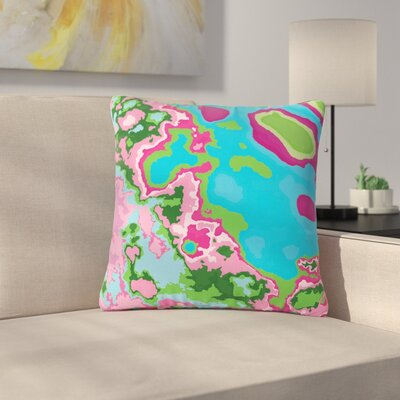 Empire Ruhl Spring Agate Abstract Outdoor Throw Pillow Size: 16 H x 16 W x 5 D