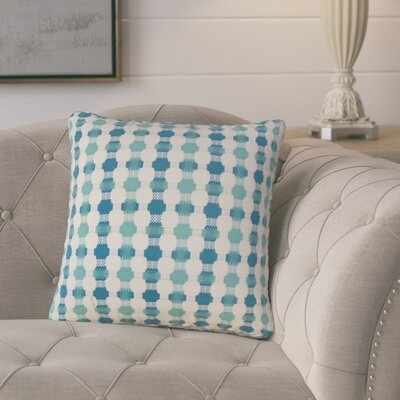 Lussier Geometric Throw Pillow Color: Bermuda