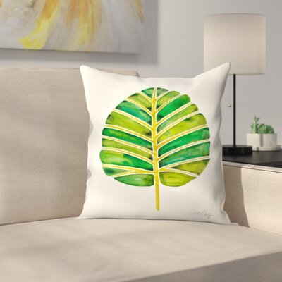 Elephant Ear Alocasia Throw Pillow Size: 18 x 18
