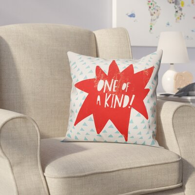 Kory One of A Kind Throw Pillow Color: Red