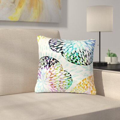 Jessica Wilde Tropical Floral Floral Outdoor Throw Pillow Size: 16 H x 16 W x 5 D