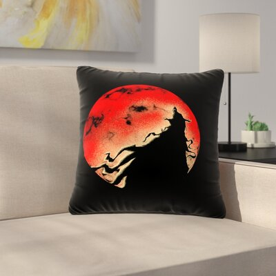 BarmalisiRTB Cloak Moon Outdoor Throw Pillow Size: 18 H x 18 W x 5 D