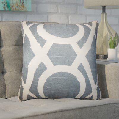 Wolfgang Geometric Cotton Throw Pillow Color: Gray