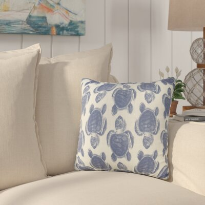 Sandlewood Turtles Throw Pillow Color: Blue