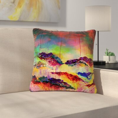 Ebi Emporium Its a Rose Colored Life Outdoor Throw Pillow Size: 18 H x 18 W x 5 D, Color: Orange