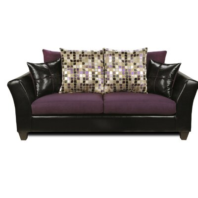 Forese Sofa Upholstery: Denver Black/Nuovo Plum