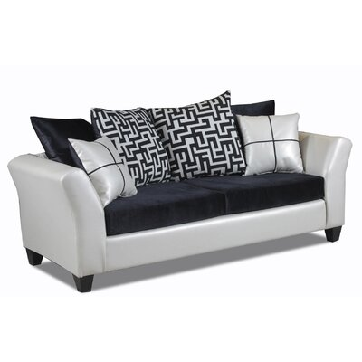 Forese Sofa Upholstery: Seville Alabaster/Implosions Black