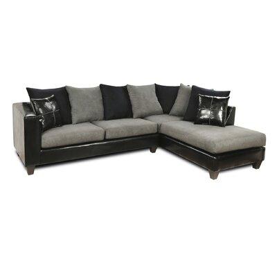 Eastridge Sectional Upholstery: Denver Black/Flat Suede Graphite/Sierra Black