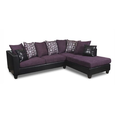 Eastridge Sectional Upholstery: Denver Black/Nuovo Plum/Tudor Dahlia