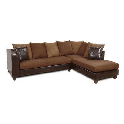 Eastridge Sectional Upholstery: Denver Mocha/Chocolate/Victory Sepia