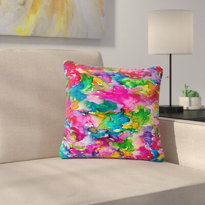 Ebi Emporium Summer Swirls Outdoor Throw Pillow Size: 18 H x 18 W x 5 D