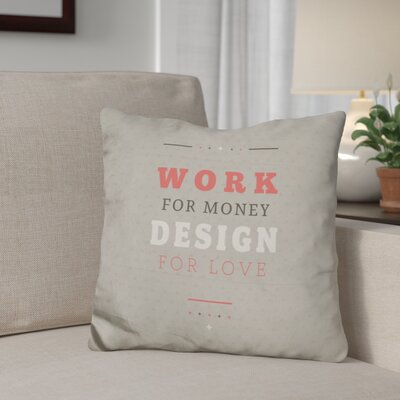 Ginder Design For Love Throw Pillow