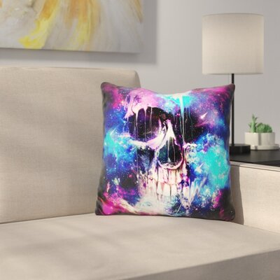 Space Skull Throw Pillow