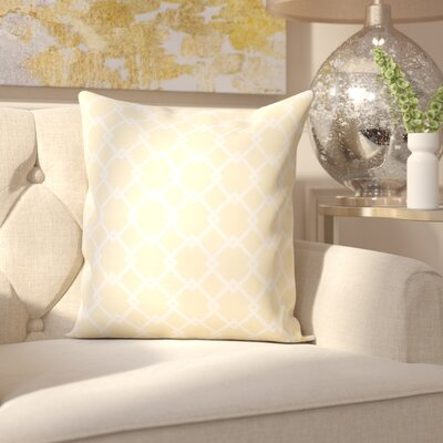 Pandro Throw Pillow Size: 20 H x 20 W, Color: Yellow