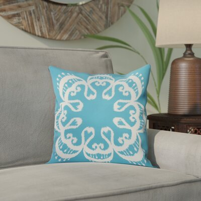 Meetinghouse Ikat Mandala Geometric Print Throw Pillow Size: 26 H x 26 W, Color: Turquoise