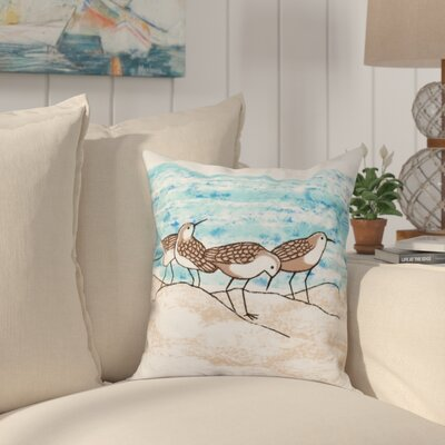 Cedarville Sandpipers Outdoor Throw Pillow Size: 18 H x 18 W, Color: Taupe