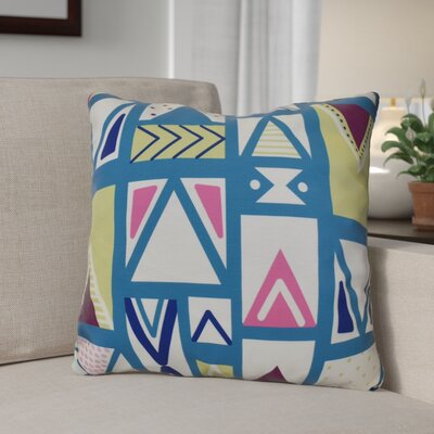 Decorative Geometric Throw Pillow Size: 16 H x 16 W, Color: Teal