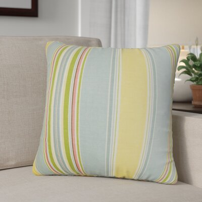 Ashprington Stripes Throw Pillow Color: Springtime, Size: 18 x 18