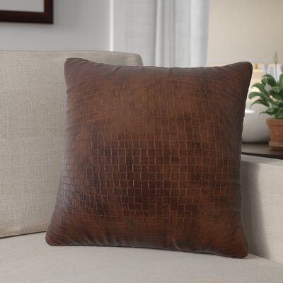Caldina Solid Down Filled Throw Pillow Size: 18 x 18, Color: Dark Brown