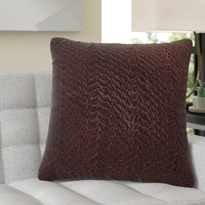 Stoney Littleton 100% Cotton Throw Pillow Size: 18 H x 18 W, Color: Aubergine, Filler: Polyester