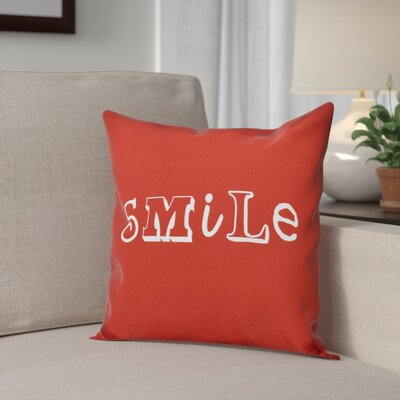 Scotland Happy Smile Throw Pillow Size: 18 H x 18 W, Color: Red