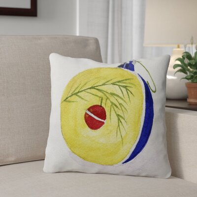 Ornament Square Outdoor Throw Pillow Size: 18 x 18