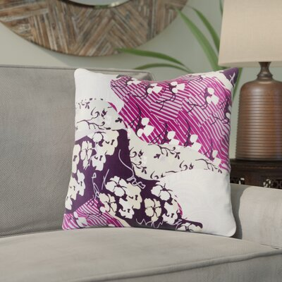 Hebert Silk Throw Pillow Size: 20 H x 20 W x 4 D, Color: Violet, Filler: Down
