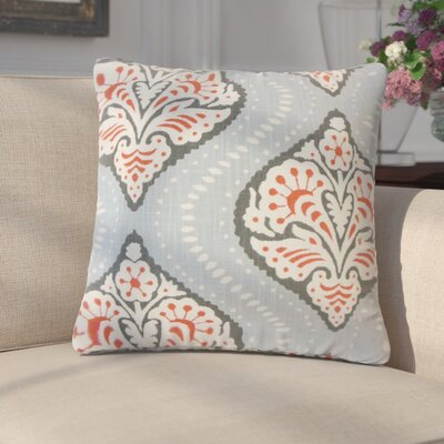 Flavio Ikat Cotton Throw Pillow Color: Gray