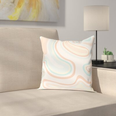 Buenrostro Agate Geometric Throw Pillow Size: 26 H x 26 W, Color: Peach