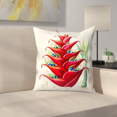 Flored Amerique Lebalisier Throw Pillow Size: 16 x 16
