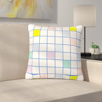 Vasare Nar Windowpane Grid Outdoor Throw Pillow Size: 18 H x 18 W x 5 D