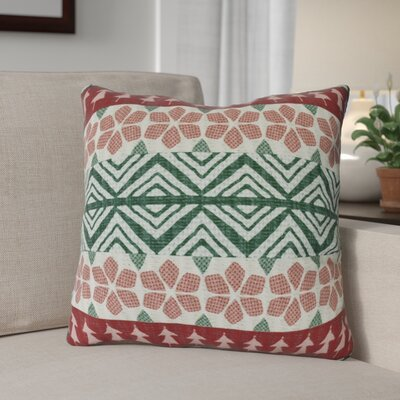 Fair Isle Throw Pillow Size: 16 H x 16 W, Color: Red